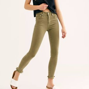 Free People Raw High-Rise Jegging Army NWT | 24